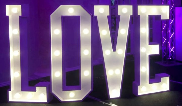 Love Letters, Wedding Lights and Illuminated Letter Hire in York
