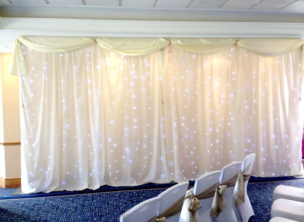Wedding Lights Backdrop York